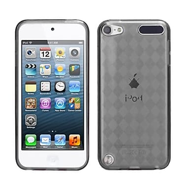 Insten® Argyle Pane Candy Skin Cover For iPod Touch 5th Gen, Smoke