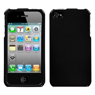 Insten Phone Protector Cover For iPhone 4/4S, Solid Black (1018365)