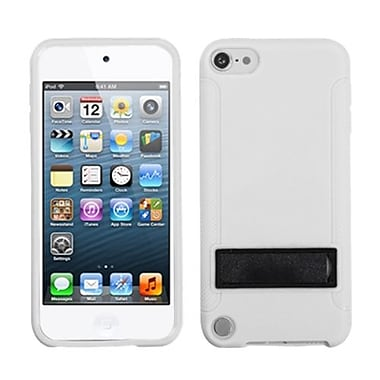 Insten Gummy Cover With Stand For iPod Touch 5th Gen, Solid Black/Solid White (1018408)