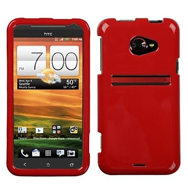 Insten® Protector Case For HTC EVO 4G LTE, Solid Flaming Red