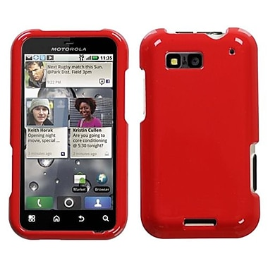 Insten® Protector Case For Motorola MB525 Defy, Solid Flaming Red