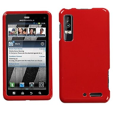 Insten® Protector Cover For Motorola XT862 Droid 3, Solid Flaming Red