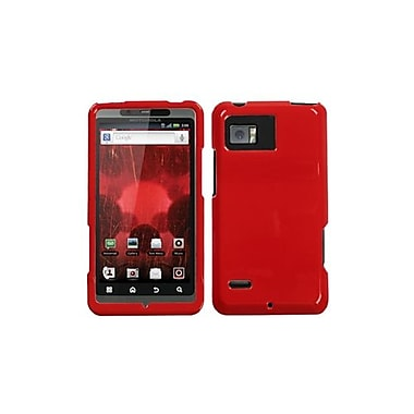 Insten® Protector Case For Motorola XT875 Droid Bionic, Solid Flaming Red