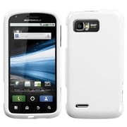 Insten® Protector Case For Motorola MB865 Atrix 2, Solid Ivory White