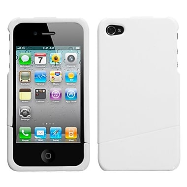 Insten® Phone Protector Cover F/iPhone 4/4S, Solid Ivory White Slash