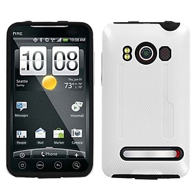 Insten® Protector Case For HTC EVO 4G, Solid Ivory White/Black Fusion