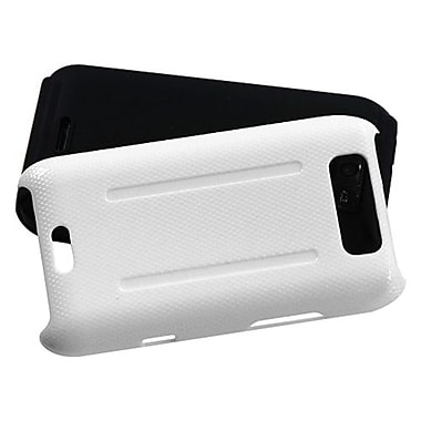 Insten® Protector Cover For LG MS840 Connect 4G/LS840 Viper, Solid Ivory White/Black Fusion