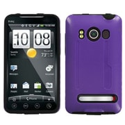 Insten® Protector Case For HTC EVO 4G, Solid Purple/Black Fusion