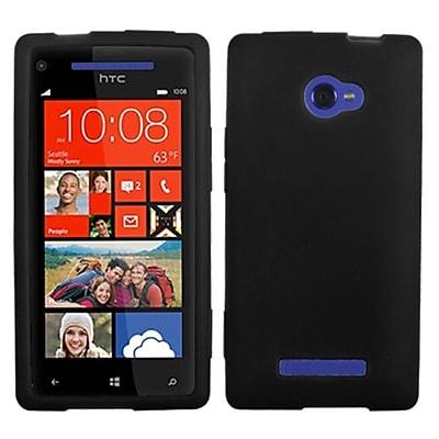Insten® Skin Case For HTC Windows Phone 8X; Solid Black