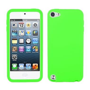 Insten Solid Skin Cover For iPod Touch 5th Gen, Electric Green (1018768)