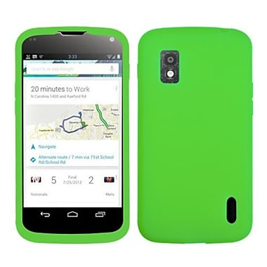 Insten® Skin Case For LG E960 Nexus 4, Solid Electric Green