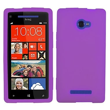 Insten® Skin Case For HTC Windows Phone 8X, Solid Electric Purple