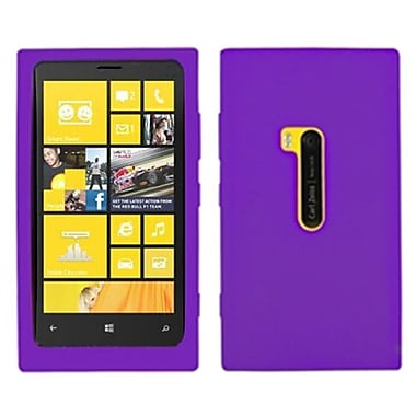 Insten Silicone Gel Skin Phone Protector Case For Nokia Lumia 920, Electric Purple (1018797)