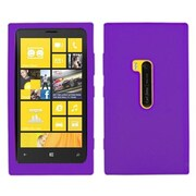 Insten® Silicone Gel Skin Phone Protector Case For Nokia Lumia 920, Electric Purple