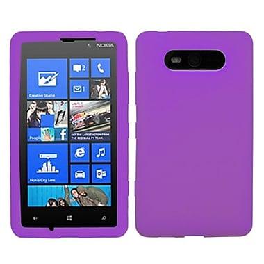 Insten® Skin Case For Nokia Lumia 820, Solid Electric Purple