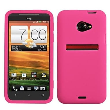 Insten® Skin Cover For HTC EVO 4G LTE, Solid Hot-Pink