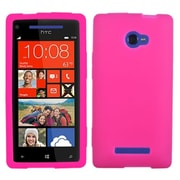 Insten® Skin Case For HTC Windows Phone 8X, Solid Hot-Pink