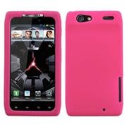 Insten® Skin Cover For Motorola XT912 Droid RAZR, Solid Hot-Pink