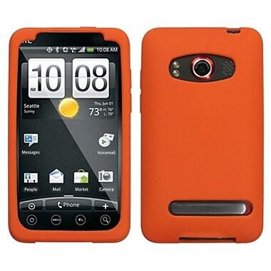 Insten® Skin Cover For HTC EVO 4G, Solid Orange