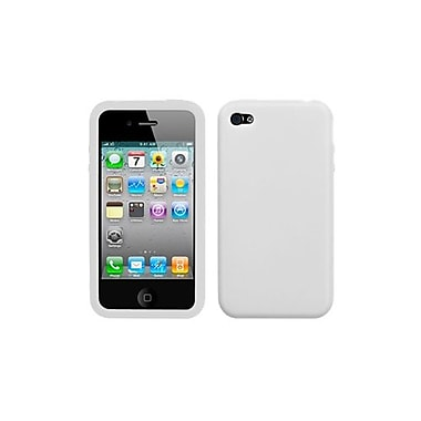 Insten Solid Skin Cover For iPhone 4/4S Translucent White (1018892)