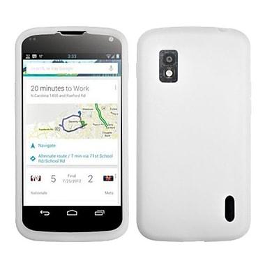 Insten® Skin Cover For LG E960 Nexus 4, Solid Translucent White