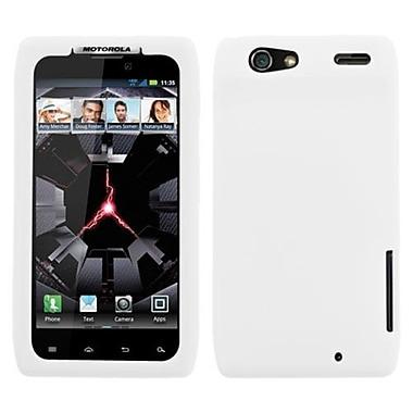 Insten® Skin Cover For Motorola XT912 Droid RAZR, Solid Translucent White