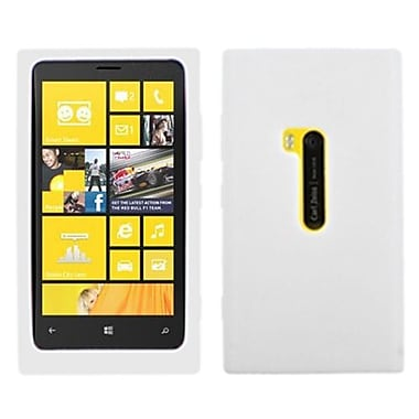Insten Solid Skin Cover For Nokia Lumia 920, Translucent White (1018949)