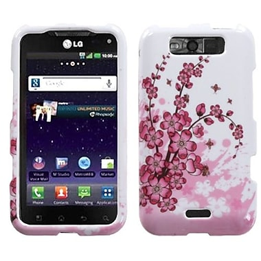Insten® Protector Cover For LG MS840 Connect 4G/LS840 Viper, Spring Flowers