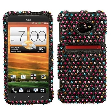 Insten Diamante Protector Case For HTC EVO 4G LTE, Sprinkle Dots (1019071)