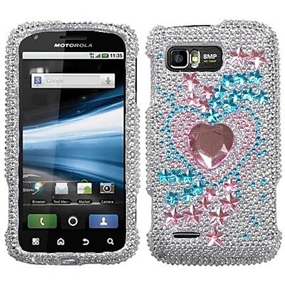 Insten® Diamante Protector Case For Motorola MB865 Atrix 2, Star Track