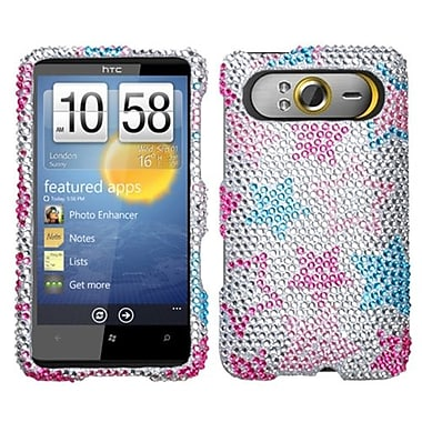 Insten® Diamante Protector Cover For HTC HD7/HD7S, Stylish Stars