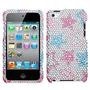 Insten® Diamante Protector Cover For iPod Touch 4th Gen, Stylish Stars