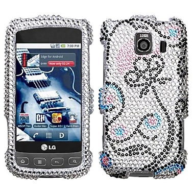 Insten Diamante Faceplate Case For LG LS670/Optimus S, Sunny Flower (1019171)