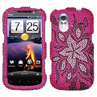 Insten Diamante Protector Case For HTC Amaze 4G, Tasteful Flowers (1019187)