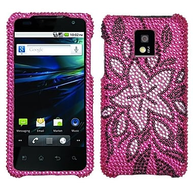 Insten Diamante Protector Case For LG P999 G2X, Tasteful Flowers (1019194)