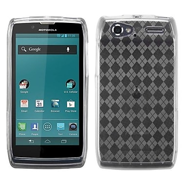 Insten® Argyle Candy Skin Cover For Motorola XT881 Electrify 2, T-Clear Pane