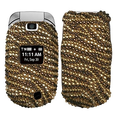 Insten® Diamante Protector Cover For LG VN150, Brown Tiger/Camel