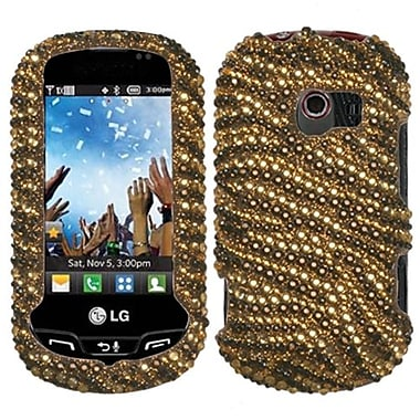 Insten® Diamante Protector Cover For LG VN271 Extravert, Brown Tiger/Camel