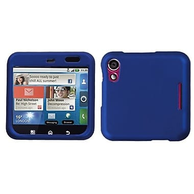Insten® Protector Case For Motorola MB511 Flipout, Titanium Solid Dark Blue