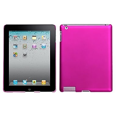 Insten® Back Protector Cover For iPad 2/3/4, Titanium Solid Hot-Pink
