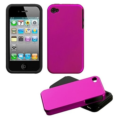 Insten® Fusion Faceplate Case F/iPhone 4/4/4SG, Titanium Solid Hot-Pink