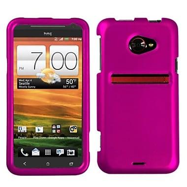 Insten® Protector Case For HTC EVO 4G LTE, Titanium Solid Hot-Pink