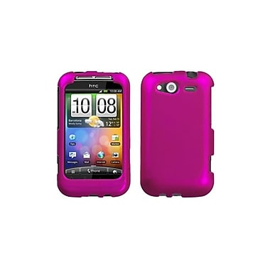 Insten® Faceplate Case For HTC WildFire S CDMA, Titanium Solid Hot-Pink