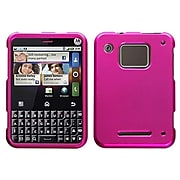 Insten� Protector Cover For Motorola Charm MB502; Titanium Solid Hot-Pink