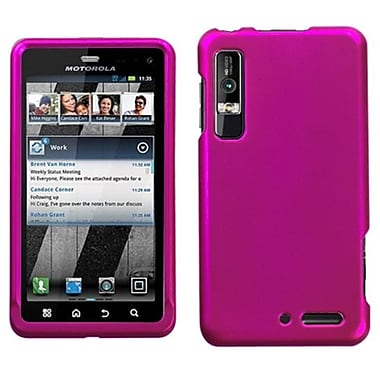 Insten® Protector Cover For Motorola XT862 Droid 3, Titanium Solid Hot-Pink