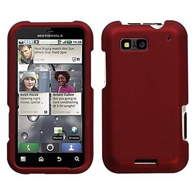Insten® Protector Case For Motorola MB525 Defy, Titanium Solid Red
