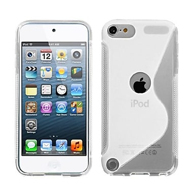 Insten S-Shape Candy Skin Cover For iPod Touch 5th Gen, Transparent Clear (1019581)