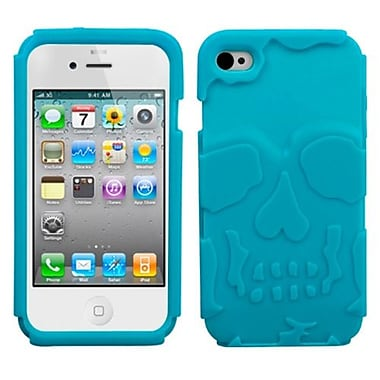 Insten Skullcap Base Hybrid Protector Cover For iPhone 4/4S, Tropical Teal (1019763)