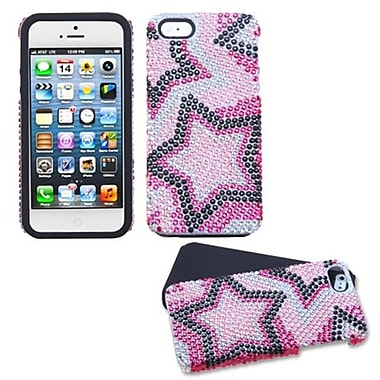 Insten® Diamante Fusion Protector Cover F/iPhone 5/5S, Twin Stars