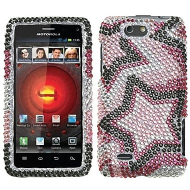 Insten® Diamante Protector Cover For Motorola XT894 Droid 4, Twin Stars